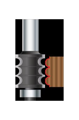 Triple Beading & Fluting Router Bits