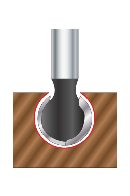 Ball End Router bits