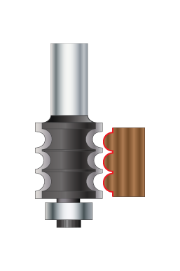 Triple Beading & Fluting Router Bits