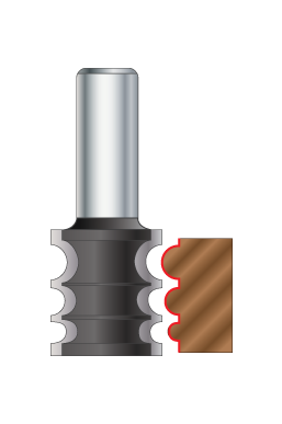 Variable Beading Router Bit