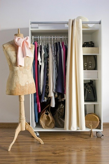 Wardrobes in a bedroom
